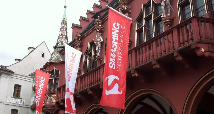 The Smashing Conference was held in this historic building in Freiburg Germany, right next to the cities even more historic church.  Definitely my favorite conference location so far!