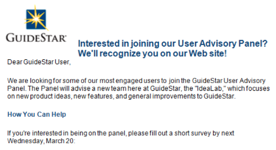 GuideStar Email Intro